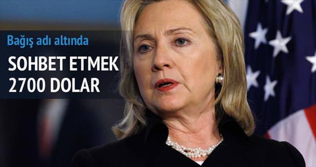 Clinton'la konuşmak 2700 dolar