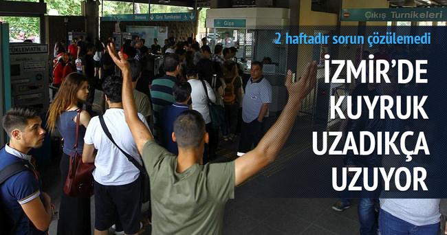 İzmir'de ulaşım sorunu devam ediyor
