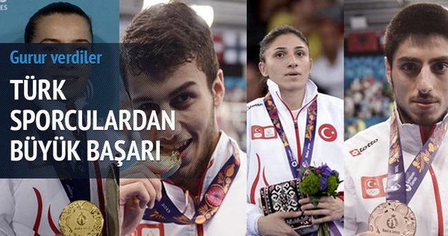 Türk sporculardan 2 altın 1 bronz ve 1 gümüş madalya