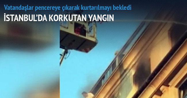 İstanbul'da otel yangını!