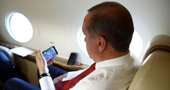 Erdoğan şampiyonu böyle izledi