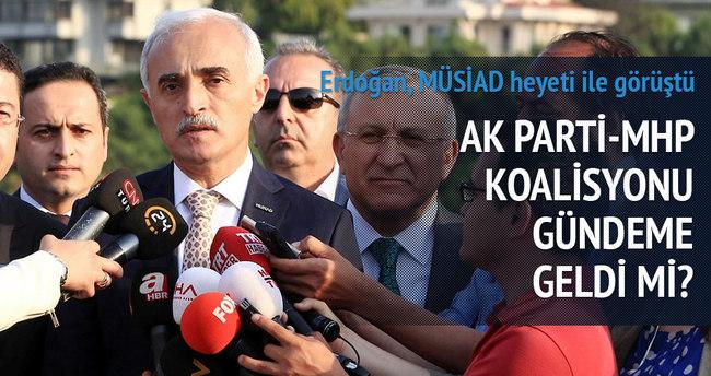 Cumhurbaşkanı Erdoğan MÜSİAD heyeti ile görüştü