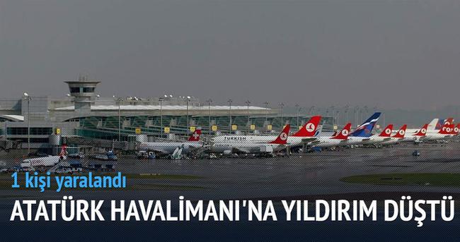 Atatürk Havalimanı apronuna yıldırım düştü: 1 yaralı