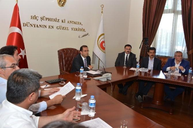 Çiçek Açan Antalya Projesi İstişare Toplantısı, Vali Türker Başkanlığında Yapıldı