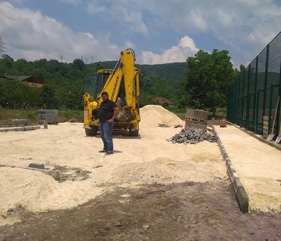 Eşme'de Park Çalışması