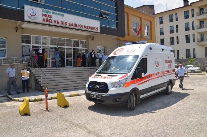 Muş'ta AFAD Tatbikatında Hastane Boşaltıldı