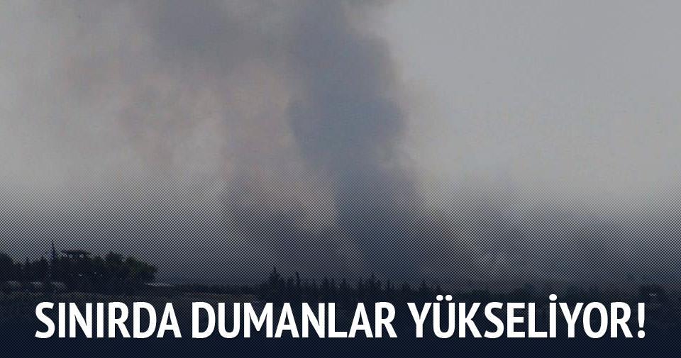 Suriye sınırında dumanlar yükseliyor