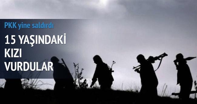 PKK askere saldırdı! 15 yaşındaki kızı vurdu!