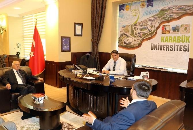 MHP Karabük Milletvekili Yalçın'dan Rektör Polat'a Ziyaret