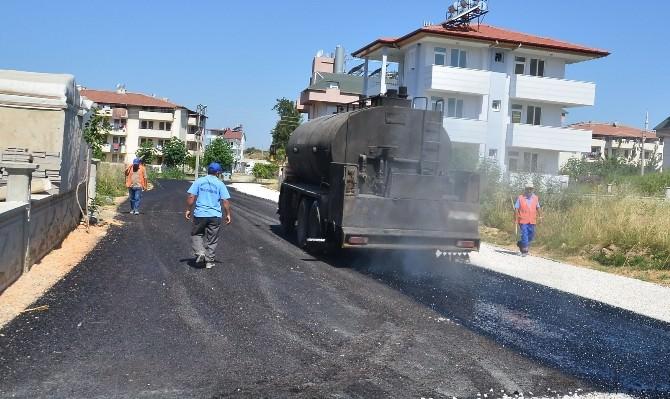 Manavgat Belediyesi'nden Ilıca'da Asfalt Çalışmaları