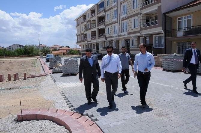 Kırşehir Belediyesi Sert Zemin Çalışmalarına Devam Ediyor
