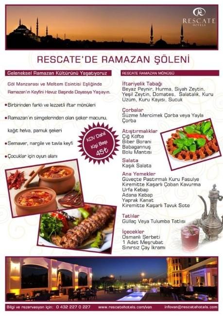 Rescate Otel'de Ramazan Şöleni