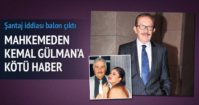 Kemal Gülman'ın şantaj iddiası balon çıktı