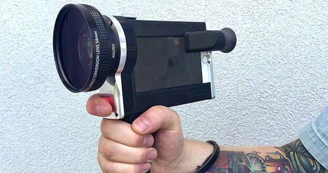 Bu kılıf iPhone'u film kamerasına dönüştürüyor