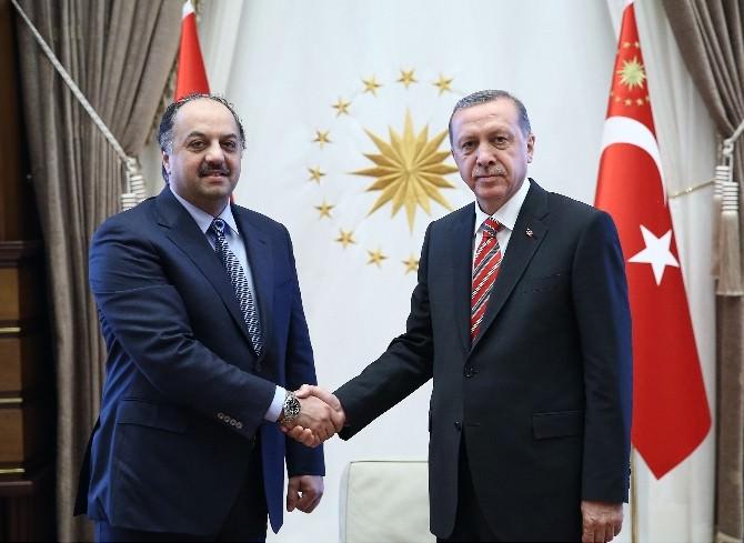 Cumhurbaşkanı Erdoğan, Katar Dışişleri Bakanı Atiyye'yi Kabul Etti