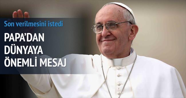Papa'dan petrol kullanmayın çağrısı