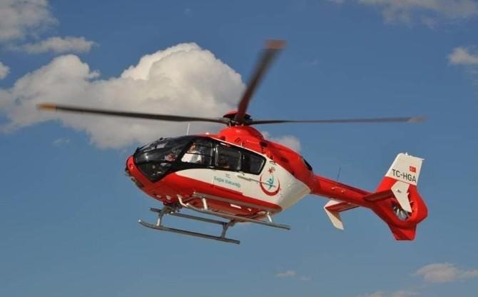 Trabzon'da Helikopter Ambulans 1 Günde 7 Hastayı Kurtarmak İçin Havalandı