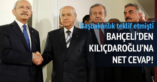 Devlet Bahçeli'den Kılıçdaroğlu'nun teklifine net cevap