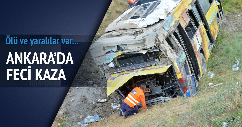 Belediye otobüsü kaza yaptı: Ölü ve yaralılar var