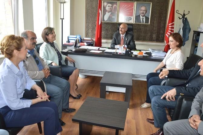 Milletvekili Usluer'den CHP Yönetimine Teşekkür Ziyareti