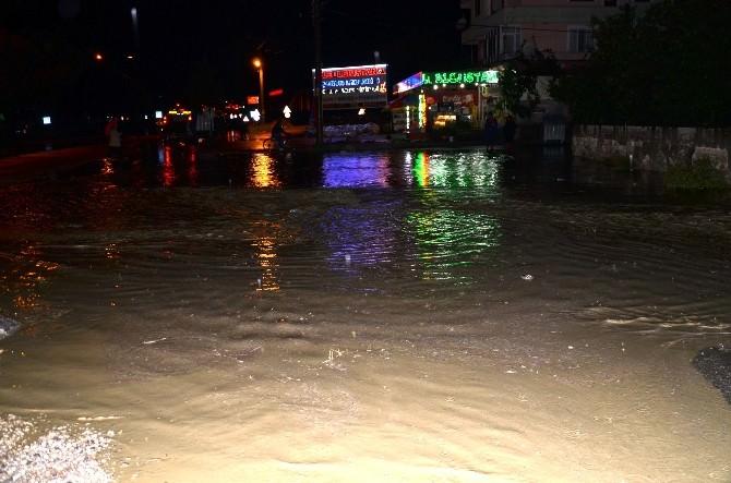 Şiddetli Yağış Osmancık'ta Sele Neden Oldu