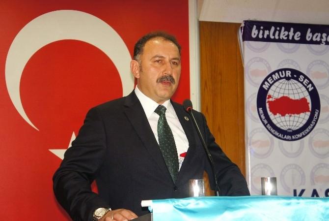 Memur-sen İl Başkanlığına Mehmet Öz Seçildi