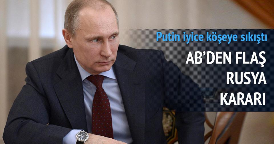 AB'den flaş Rusya kararı