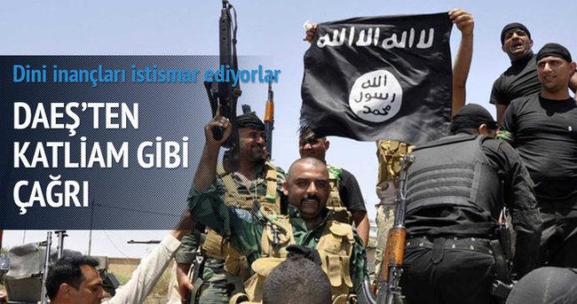 IŞİD'den katliam gibi çağrı