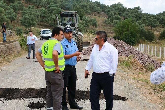Karaova'daki Yol Düzenleme Çalışmaları Sürüyor