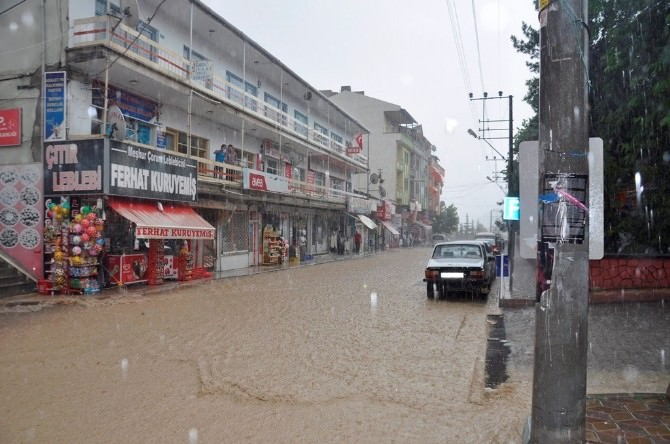 Bayat'ta Sağanak Yağış