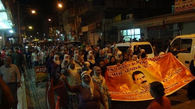 Nusaybin'de Abdullah Öcalan'a Özgürlük Yürüyüşü Yapıldı