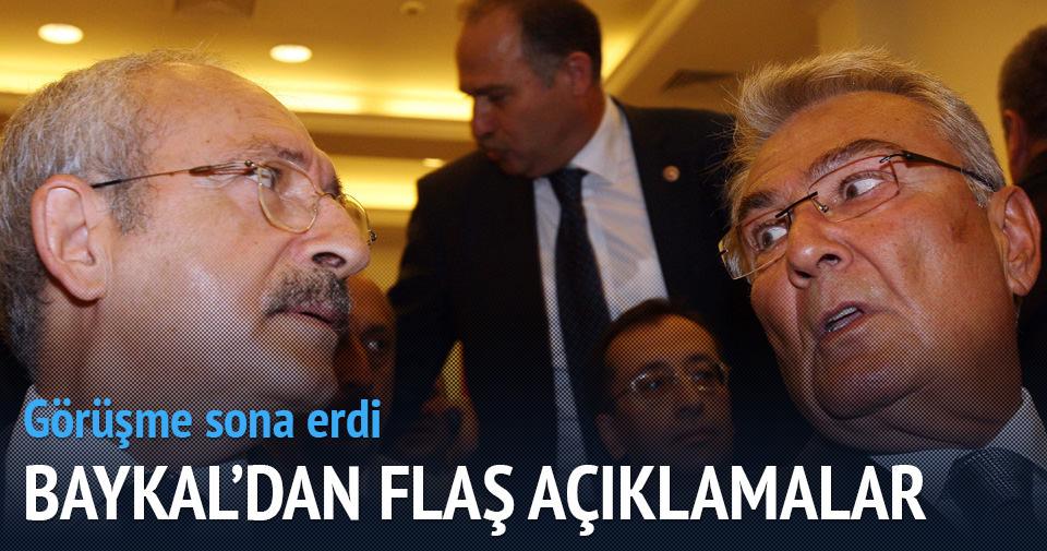 Kemal Kılıçdaroğlu Baykal görüşmesi sona erdi