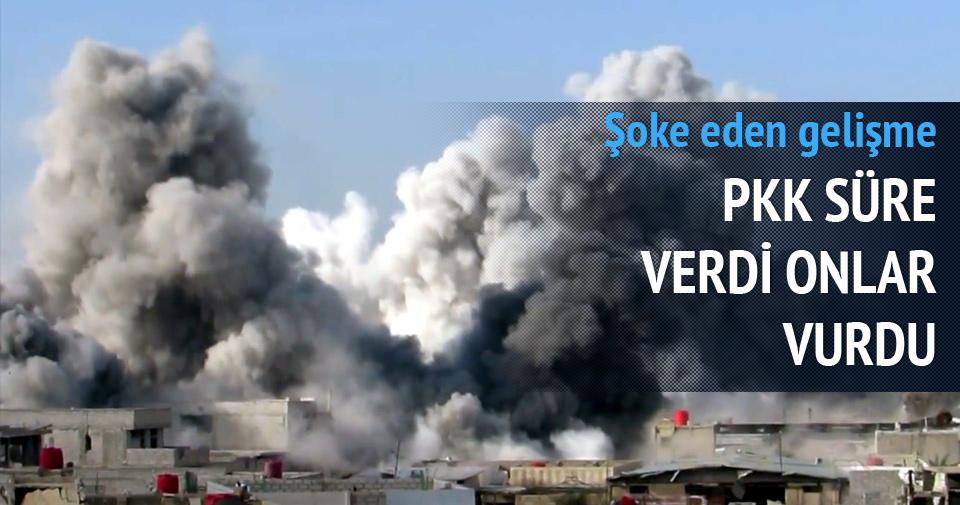 PKK SÜRE VERDİ, ONLAR BOMBALADI