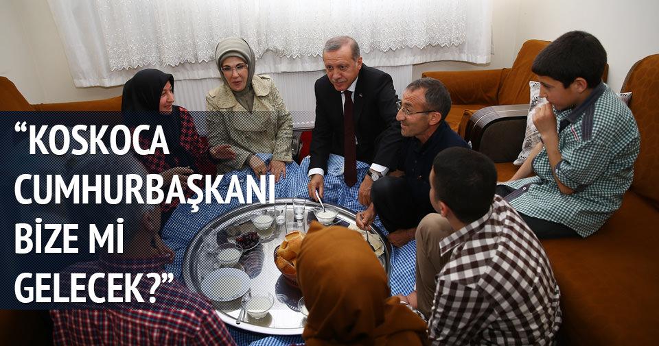 Cumhurbaşkanı Erdoğan Çelik ailesine konuk oldu