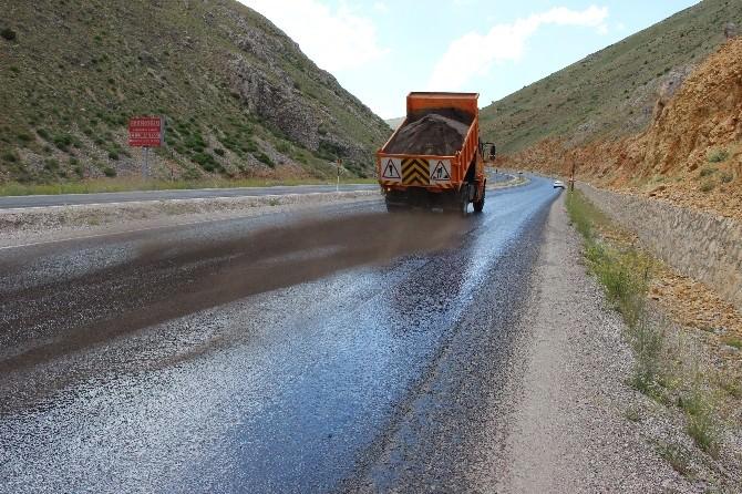 Kayseri'deki Sıcaklar Asfaltı Eritti