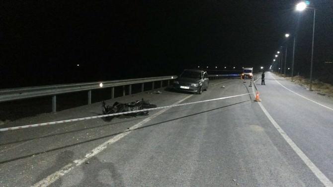 Kırka'da Motosiklet Kazası, 1 Ağır Yaralı