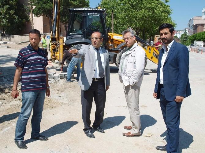 Yozgat Belediye Başkanı Arslan, Yapılan Çalışmaları Yerinde İnceledi