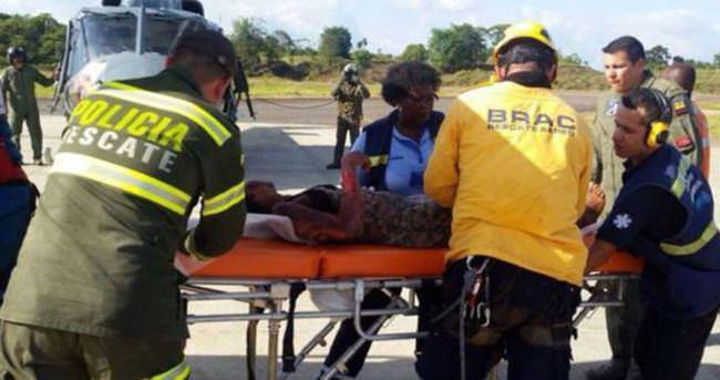 Kolombiya'da düşen uçaktaki anne ve bebeği beş gün sonra kurtarıldı