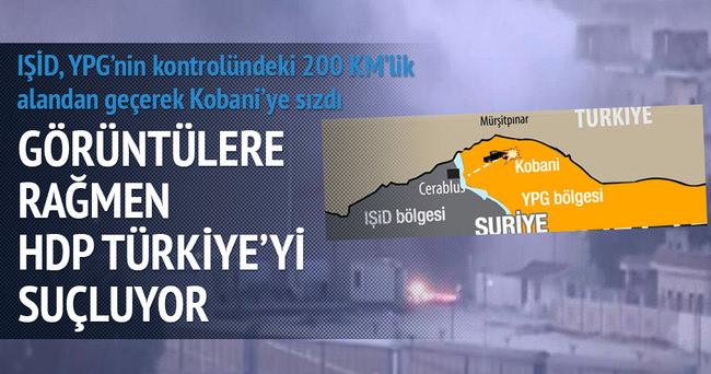 IŞİD 200 km yol gidip Kobani'yi bastı