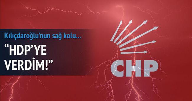 CHP'li vekil ayağa kalkarak: Ben HDP'ye verdim
