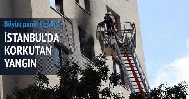 İstanbul'da 10 katlı binada yangın