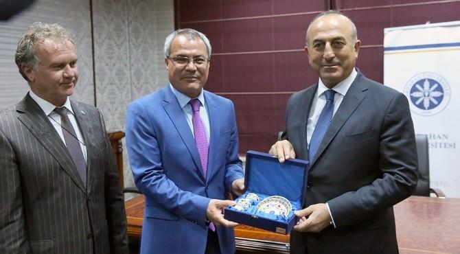 Dışişleri Bakanı Çavuşoğlu, Ardahan Üniversitesi'ni Ziyaret Etti