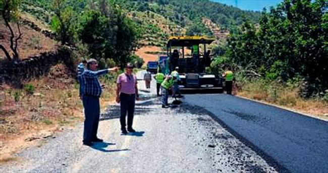 Alanya'nın grup yollarına asfalt