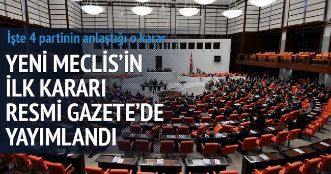 Meclis tatile girmeyecek