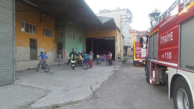 Bafra'da Yangın Korkuttu