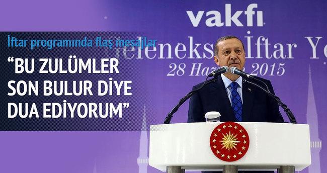 Erdoğan iftar sonrası konuştu