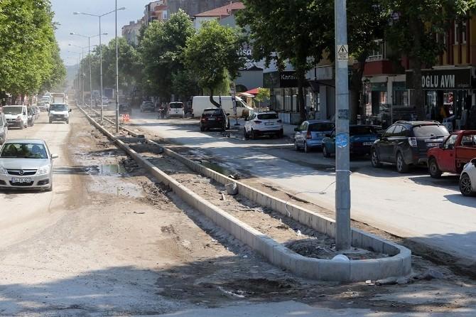 Karasu Plaj Caddesi Yenileniyor