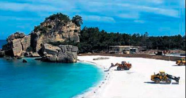 Plaj quartz kumla Maldivlere benzedi