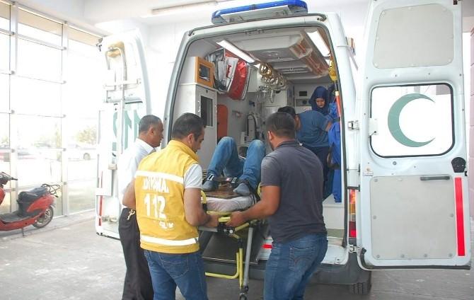 Adıyaman'da Yüksekten Düşen İşçi Yaralandı