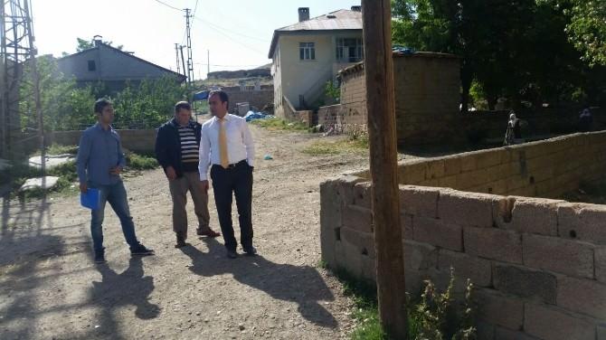 Kaymakam Erkan, Köylerdeki Çalışmalarını Yerinde İnceledi